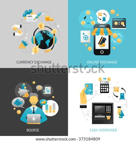 Currency Exchange Design Concept - stock photo