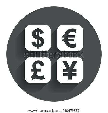 Currency Exchange Sign Icon Currency Converter Stock Illustration
