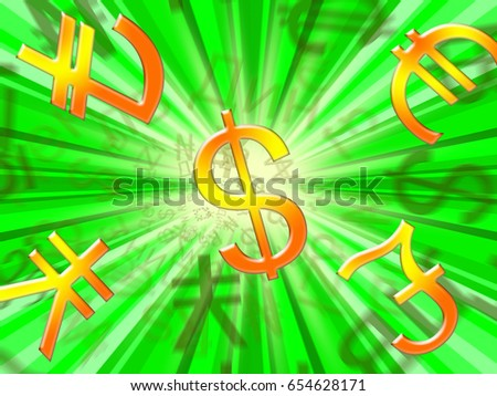 Currency Exchange Symbols Meaning Forex Rate Stock Illustration