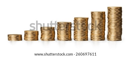 Currency, Gold, Coin. - stock photo