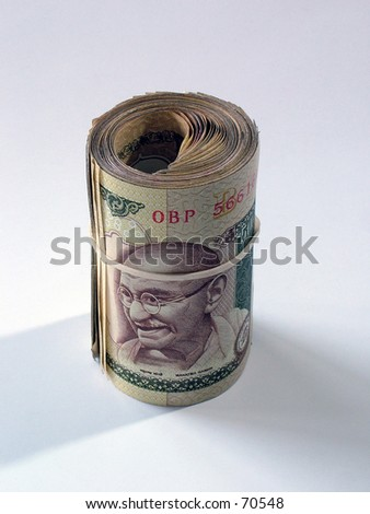 Currency, Indian money, Indian Rupees - stock photo