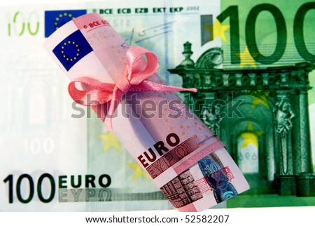 currency investments and holdings are profitable and gainful - stock photo