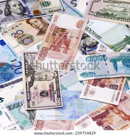 Currency leading countries of the world - stock photo