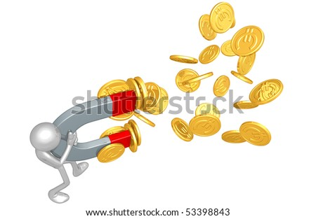 Currency Magnet Concept - stock photo