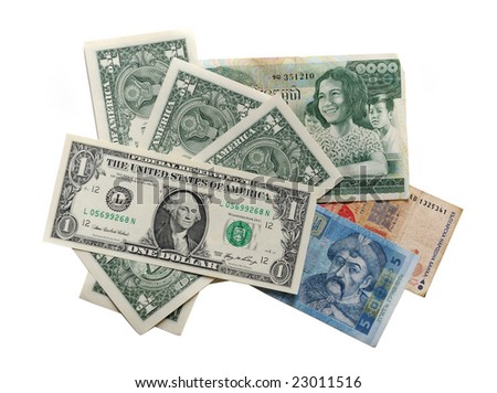Currency of the different countries - stock photo