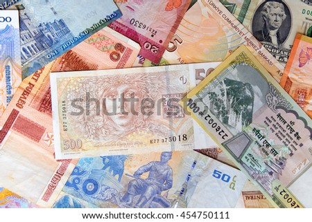 Currency of various countries