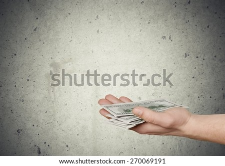 Currency, Paying, Receiving. - stock photo