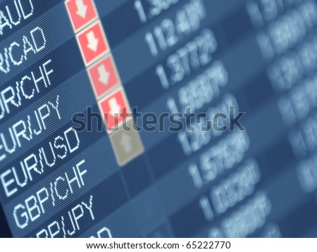 currency trading ,closeup and shallow DOF,for  forex, stock market and other finance themes - stock photo
