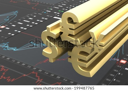 Currency trading concept - stock photo