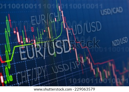 currency trading ,for forex, stock market and other finance themes - stock photo
