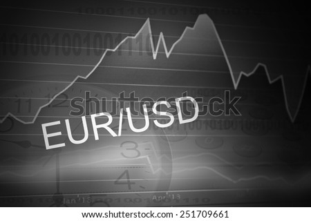 currency trading ,for forex, stock market and other finance themes, eur/usd. - stock photo