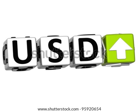 Currency USD rate concept symbol button on white background - stock photo