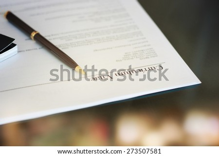 Curriculum vitae - stock photo