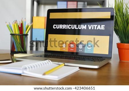 Curriculum Vitae Concept - stock photo