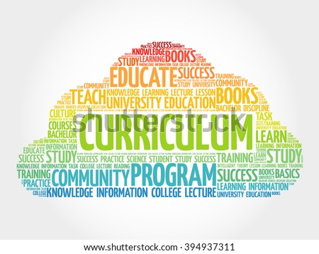 CURRICULUM word cloud, education business concept - stock photo