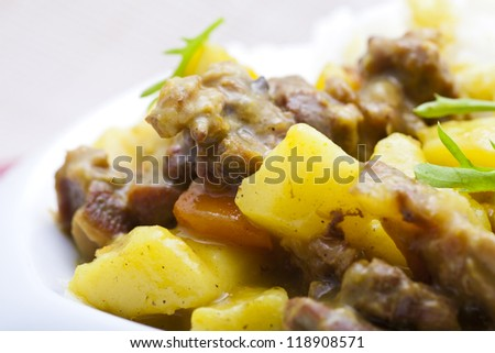 Curry beef and vegetable - stock photo