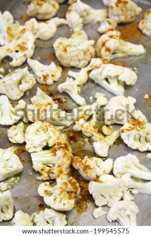 Curry Cauliflower vertical - stock photo