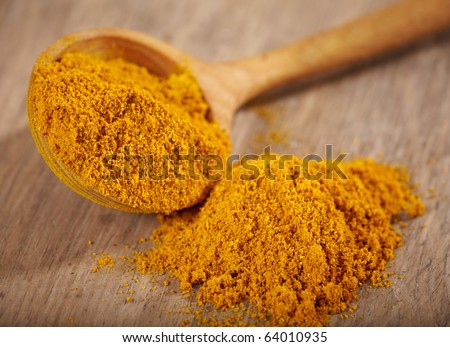 curry powder - stock photo