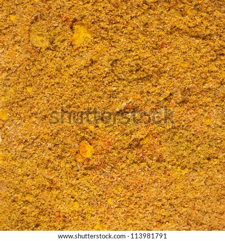 Curry Powder Spice Mix Surface Texture - stock photo