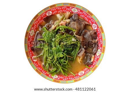 Curry with mushroom is local food of Thailand.