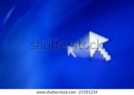 cursor arrow - stock photo