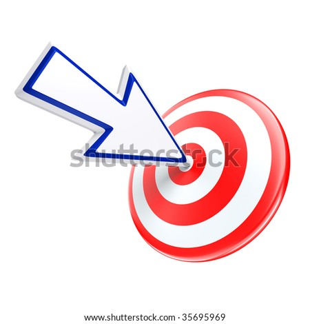 cursor directed on target isolated