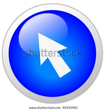 Cursor Icon Button - stock photo