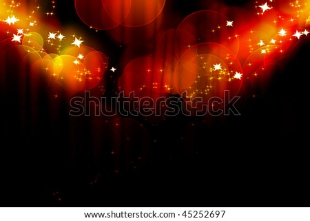 Curtain background with bright spotlights on it - stock photo