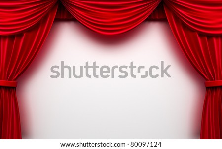 curtain frame - stock photo