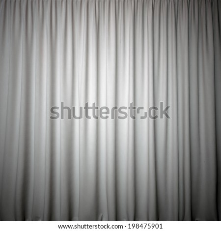 curtain grey color for interior - stock photo