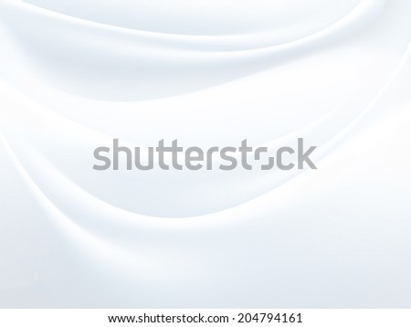 curtain of white satin fabric as background - stock photo