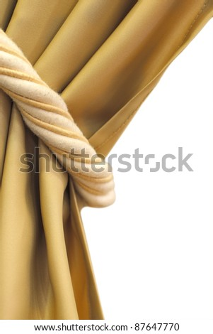 curtain tie isolated photo with clipping patch - stock photo