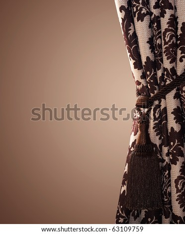 Curtain with copy space - stock photo