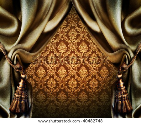 Curtains - stock photo