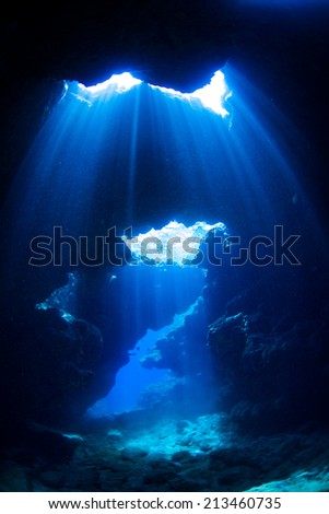 Curtains of light in underwater