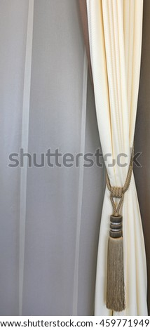 Curtains tassel for interior luxury house - stock photo