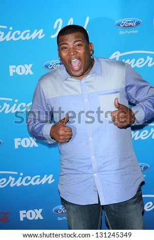 "Curtis Finch Jr. at the ""American Idol"" Finalists Party, The Grove, Los Angeles, CA  03-07-13"
