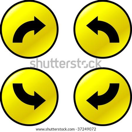 curve arrow buttons - stock photo