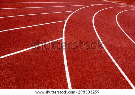 curve of running track.