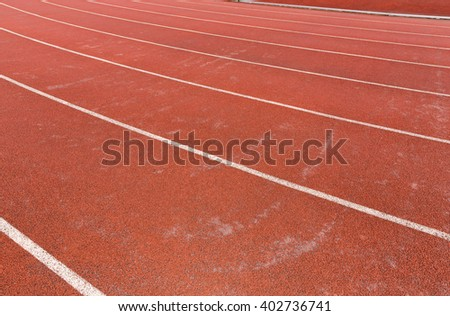 curve of running track - stock photo