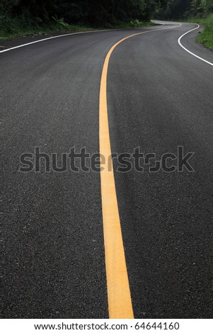 curve road - stock photo