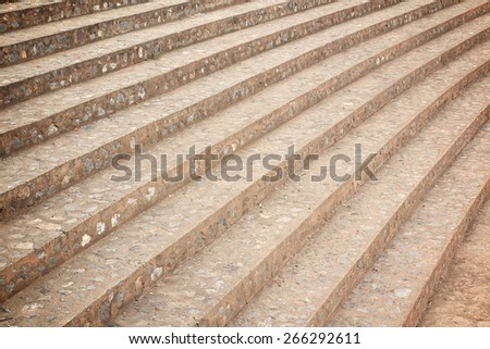 curve staircase made of concrete - stock photo