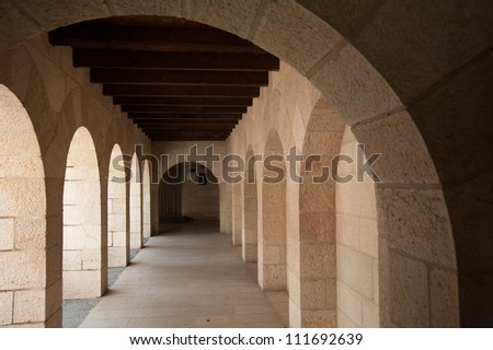 Curved arch - stock photo