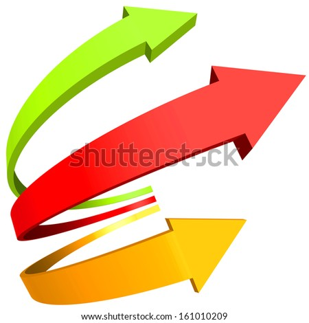 Curved arrows for various design - stock photo