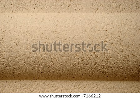 Curved decorative element in white stone - stock photo