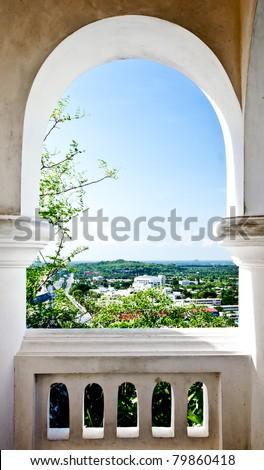 Curved Door - stock photo