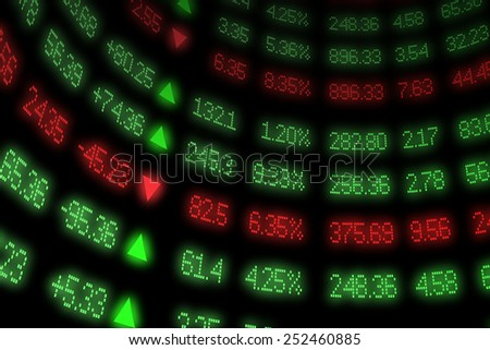 Curved Stock Market Ticker