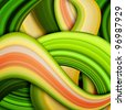 curved strips of colorful abstract background - stock photo