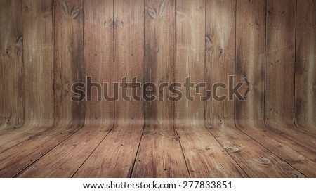 Curved wooden background - stock photo