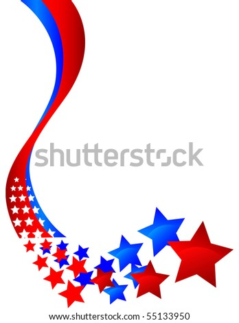 curving decorative banner that turns into stars - stock photo